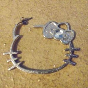 Earrings - Hello Kitty Hoops